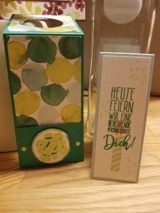 Flaschenanhänger, Einsteckkarte, StampinUp, Perfekter Geburtstag
