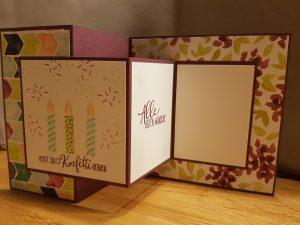 Double-Z-Fold-Card, StampinUp, Perfekter Geburtstag, besondere Falttechnik